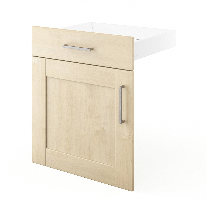 Porte et tiroir de cuisine blanc ines x x for Porte 60 x 30