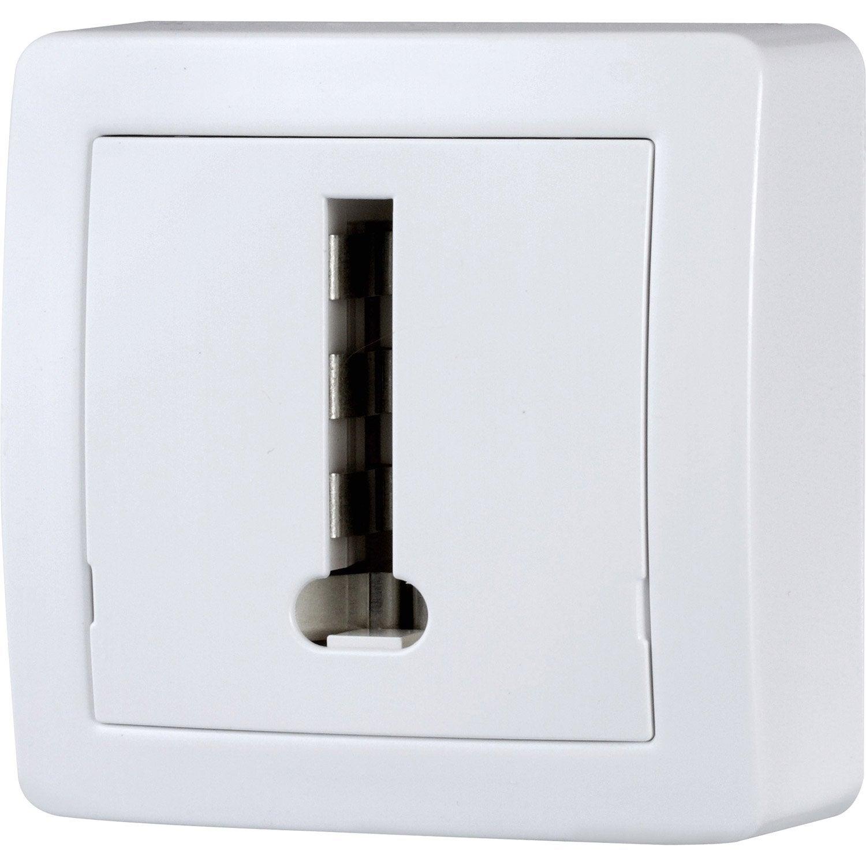 prise t l phone saillie alr a schneider electric blanc. Black Bedroom Furniture Sets. Home Design Ideas