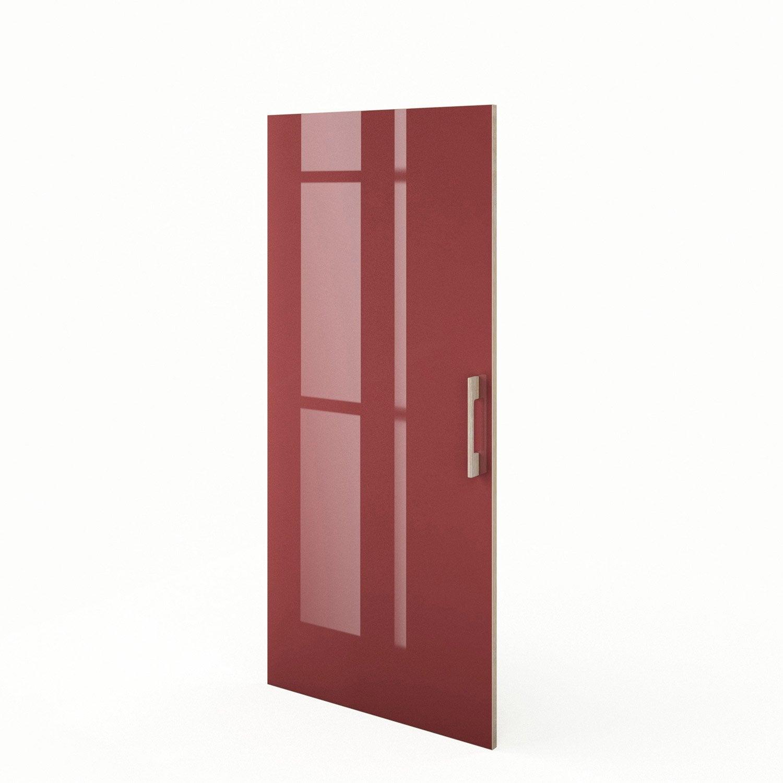 Porte 1 2 colonne de cuisine rouge grenade x for Porte 60 x 50