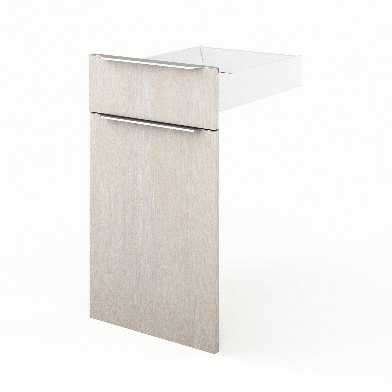 Porte et tiroir de cuisine d cor bois nordik x for Decoration porte leroy merlin