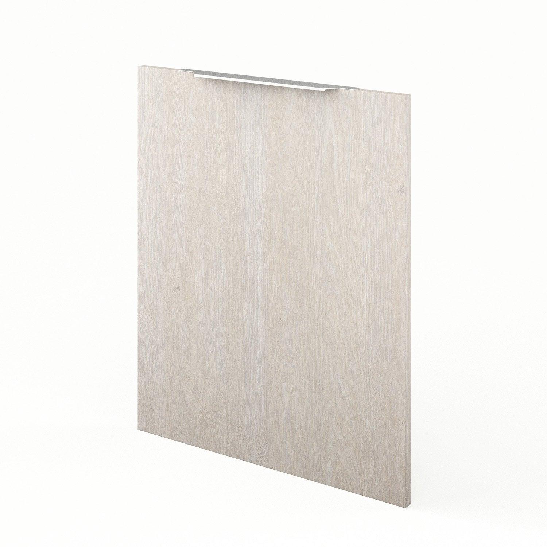 Porte de cuisine d cor bois nordik x cm leroy for Porte bois 60 cm