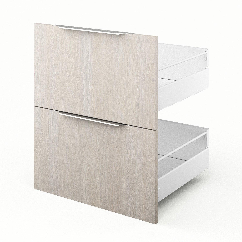 2 tiroirs de cuisine d cor bois nordik x x for Eclairage tiroir cuisine