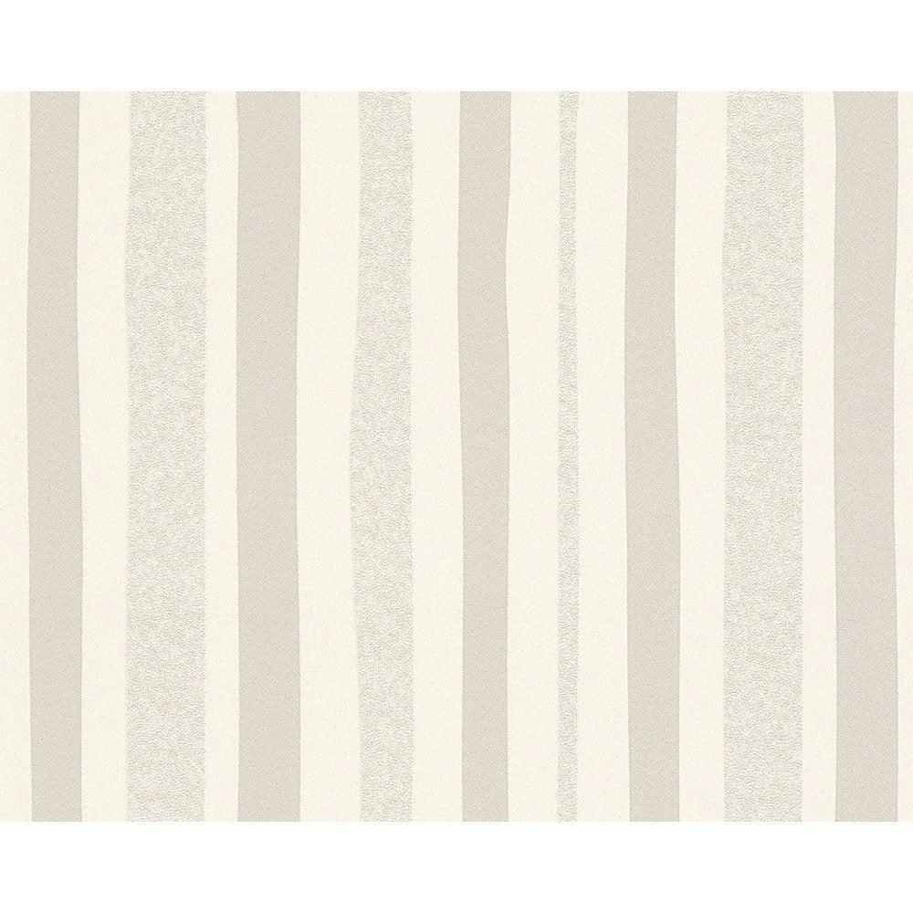 Papier peint rayure blanc et gris intiss ap 2000 leroy for Papier peint raye gris et blanc