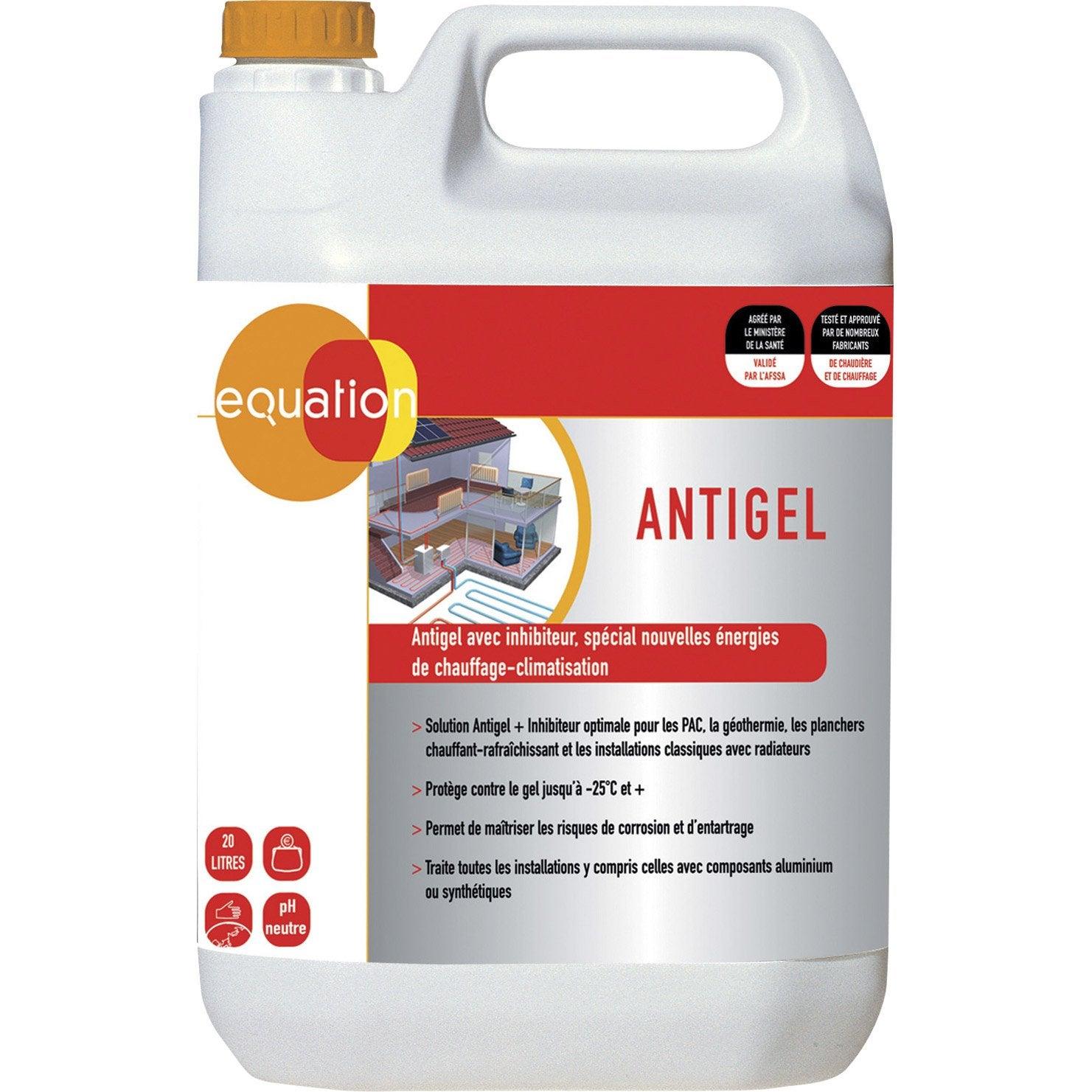 Anti gel pour chaudi re 20l equation leroy merlin for Produit anti glisse pour carrelage