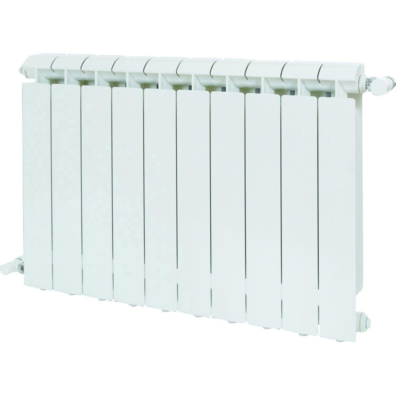 Radiateur chauffage central klass blanc cm 1056 w leroy merlin for Radiateur seche serviette eau chaude castorama