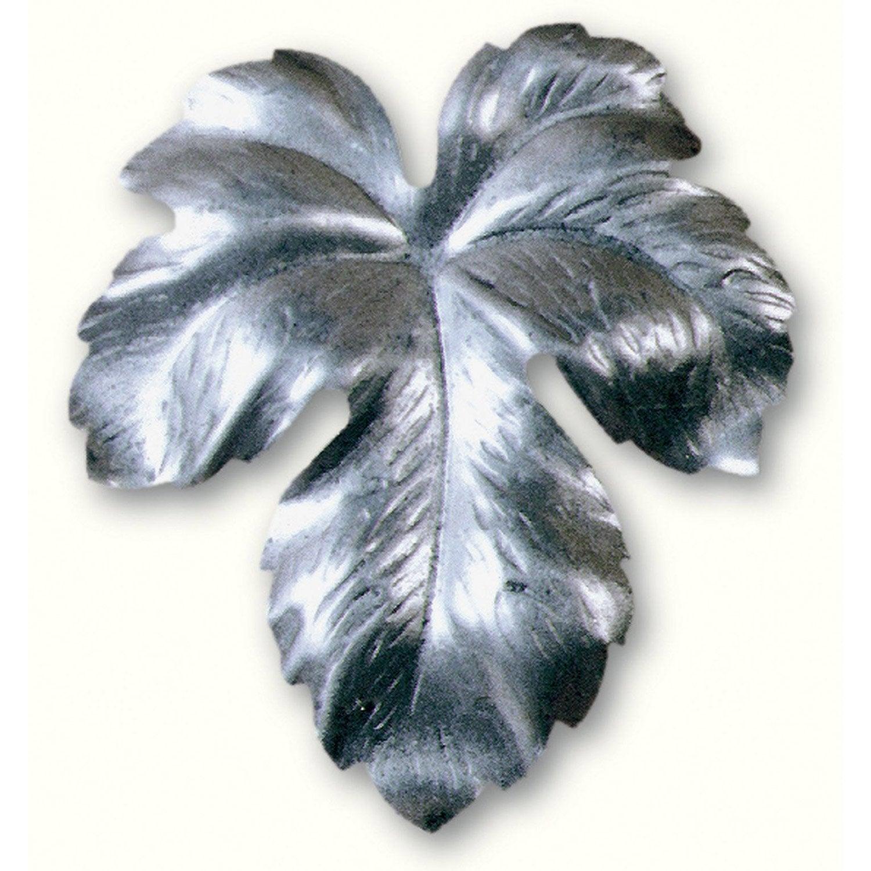 Feuille de vigne souder fer brut 7 4 x 7 2 cm leroy merlin - Moulures decoratives pour meubles ...