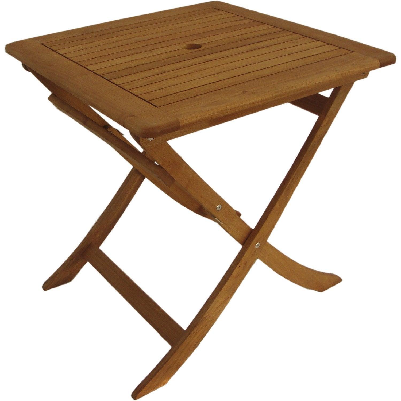 Table de jardin carr e robin naterial 2 personnes leroy for Brumisateur jardin leroy merlin