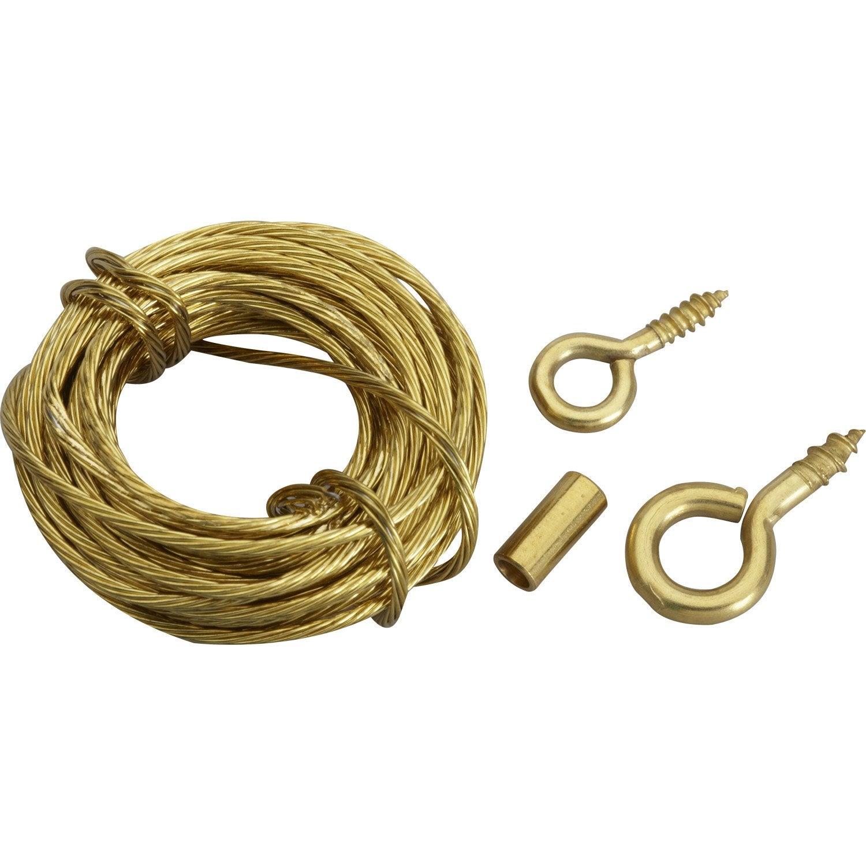 Cordon de suspension cordon acier pour tableaux le crochet francais - Crochets adhesifs pour tableaux ...