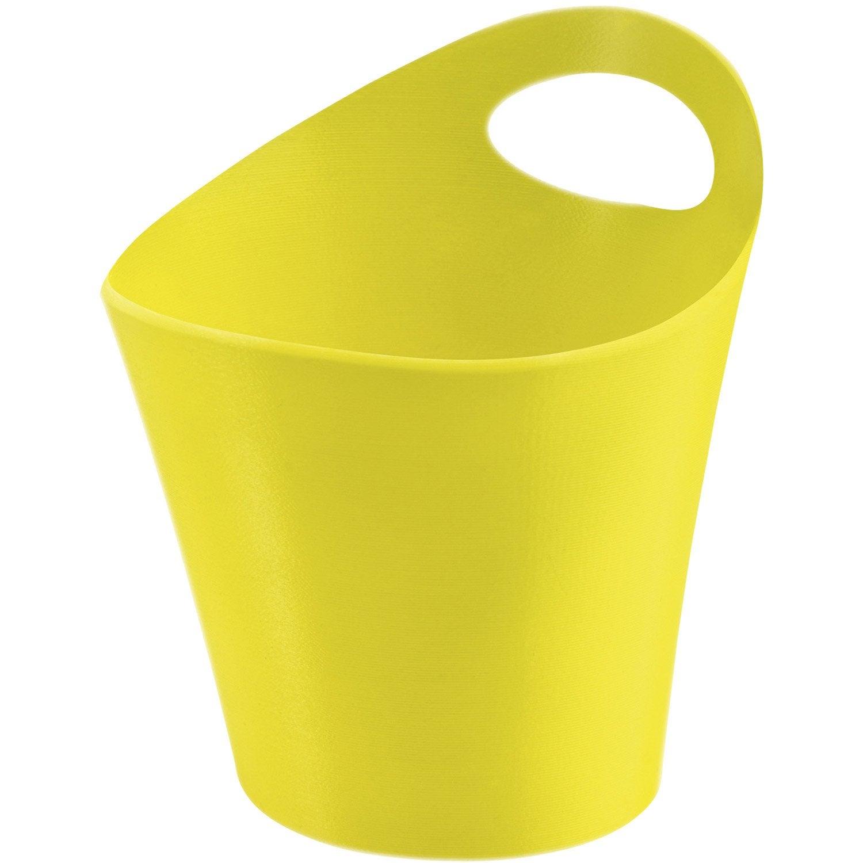 Panier en plastique jaune anis 3 potichelli leroy merlin for Portail en plastique