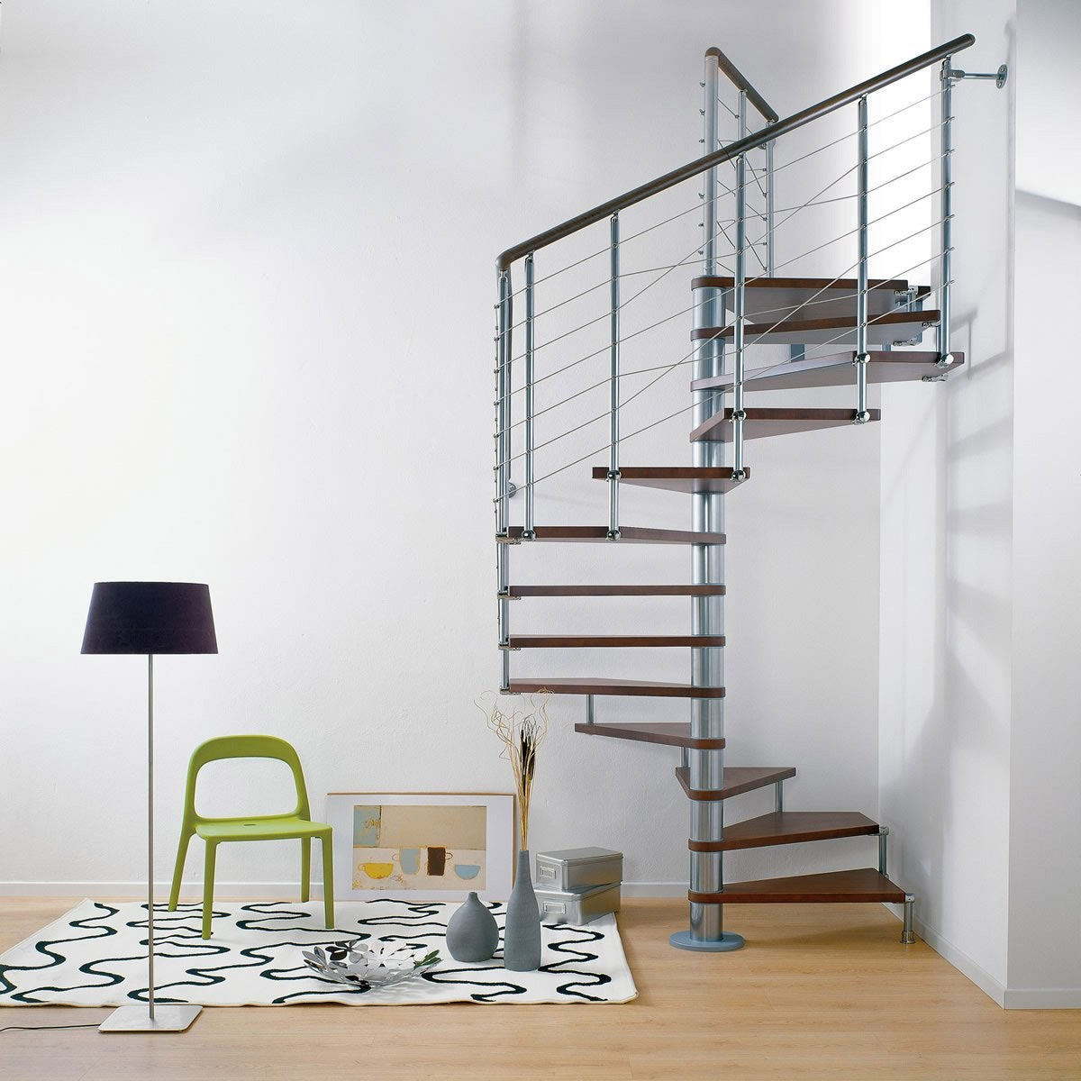 Escalier colima on carr cubeline structure m tal marche for Interior decoration under gst