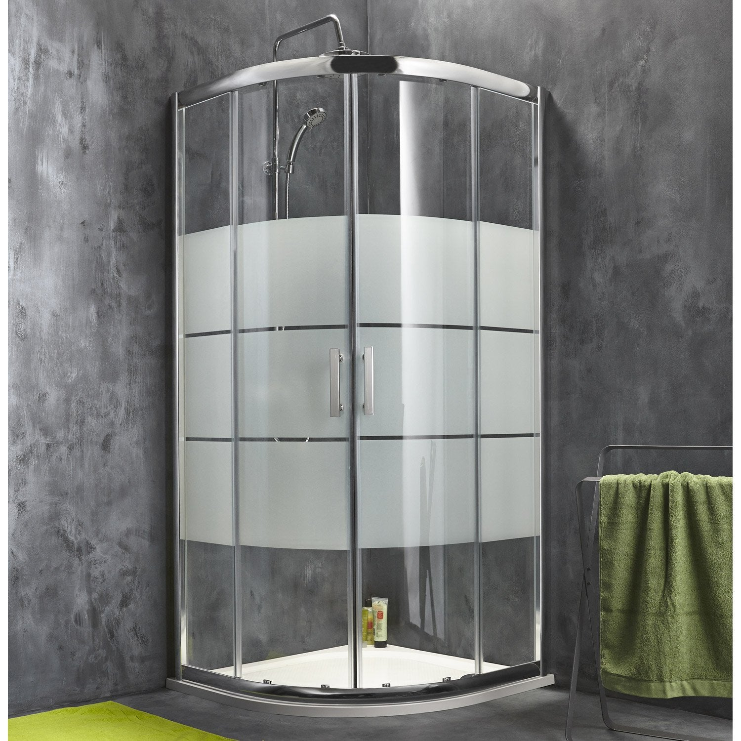 Porte de douche coulissante sensea optima 2 verre for Porte douche battant verre