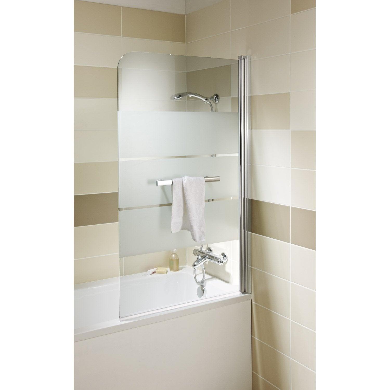 Pare baignoire 1 volet pivotant sensea optima2 leroy merlin for Porte de douche pour baignoire