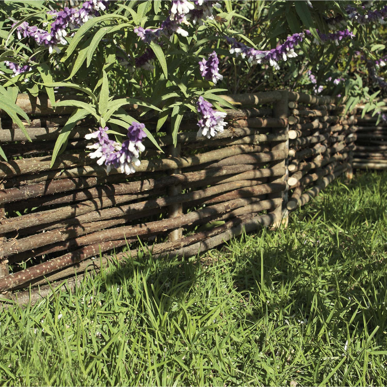 bordure planter tresse bois naturel h x l cm leroy merlin. Black Bedroom Furniture Sets. Home Design Ideas