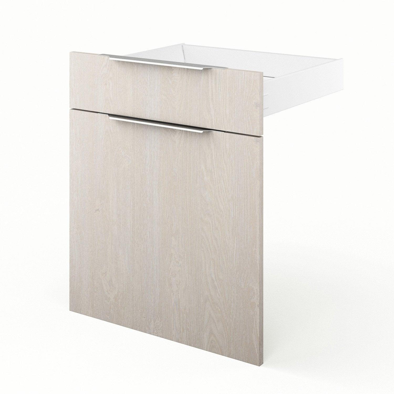 Porte et tiroir de cuisine d cor bois nordik x for Porte bois 60 cm