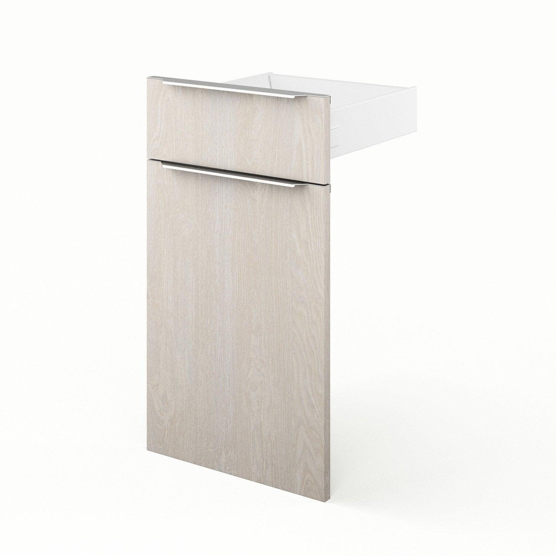 Porte et tiroir de cuisine d cor bois nordik x for Porte 70 cm leroy merlin