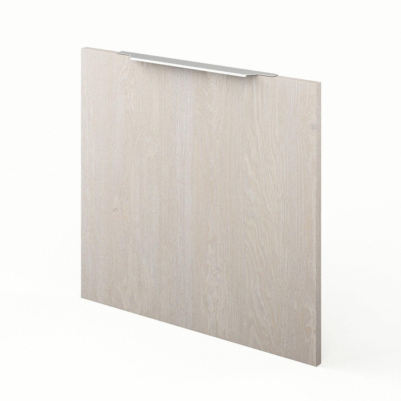 Porte de cuisine d cor bois nordik x cm for Porte 60 cm leroy merlin