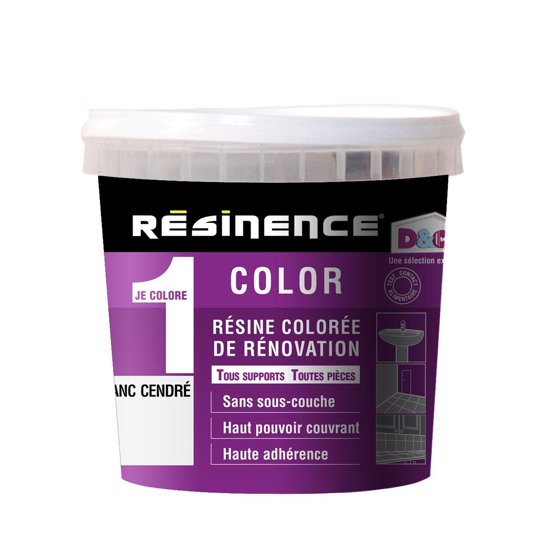 resinence color 0 5l blanc cendre leroy merlin. Black Bedroom Furniture Sets. Home Design Ideas