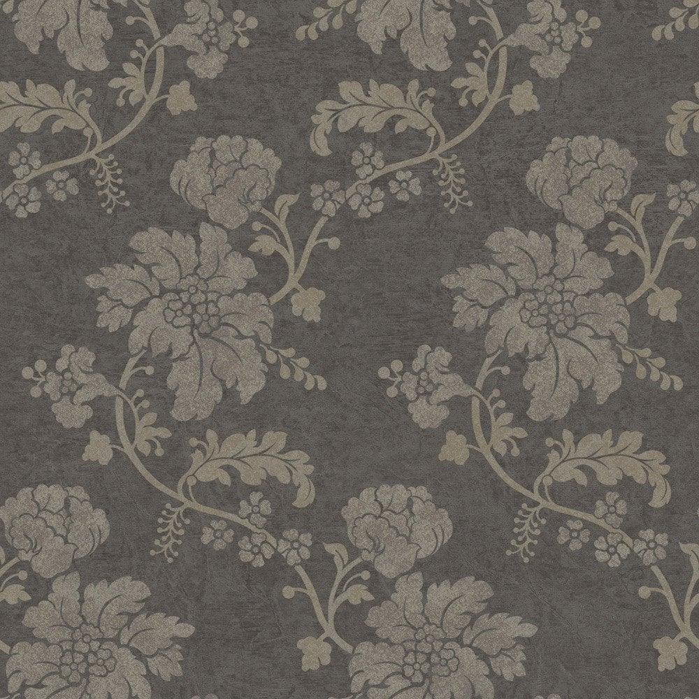 papier peint flower gris clair gris fonc intiss jade. Black Bedroom Furniture Sets. Home Design Ideas
