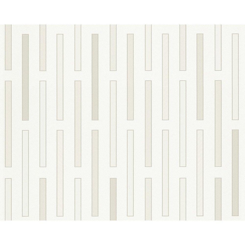 papier peint g om trique blanc gris beige intiss ap 2000 leroy merlin. Black Bedroom Furniture Sets. Home Design Ideas