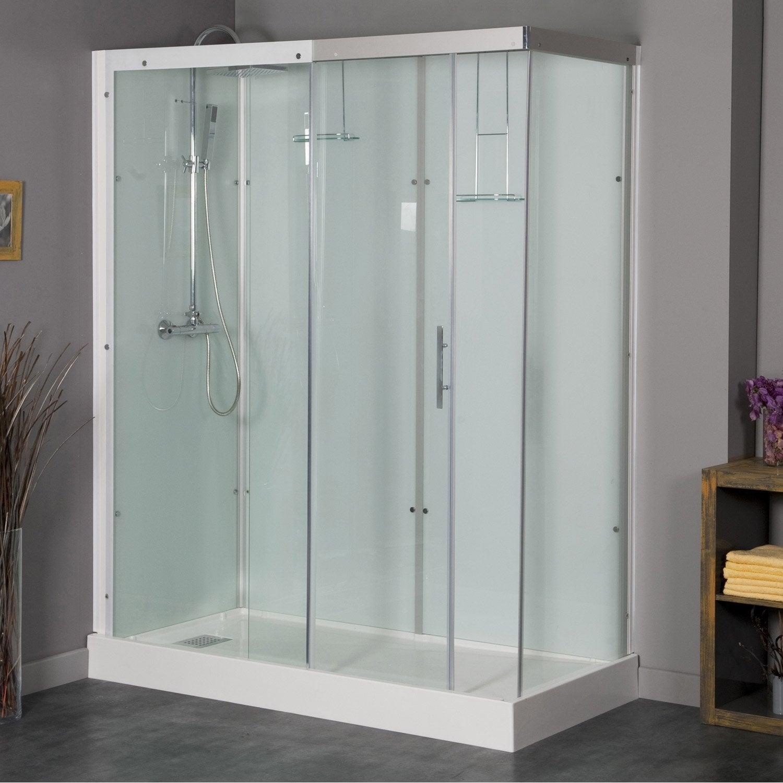 cabine de douche rectangulaire 160x80 cm thalaglass 2 thermo leroy merlin. Black Bedroom Furniture Sets. Home Design Ideas
