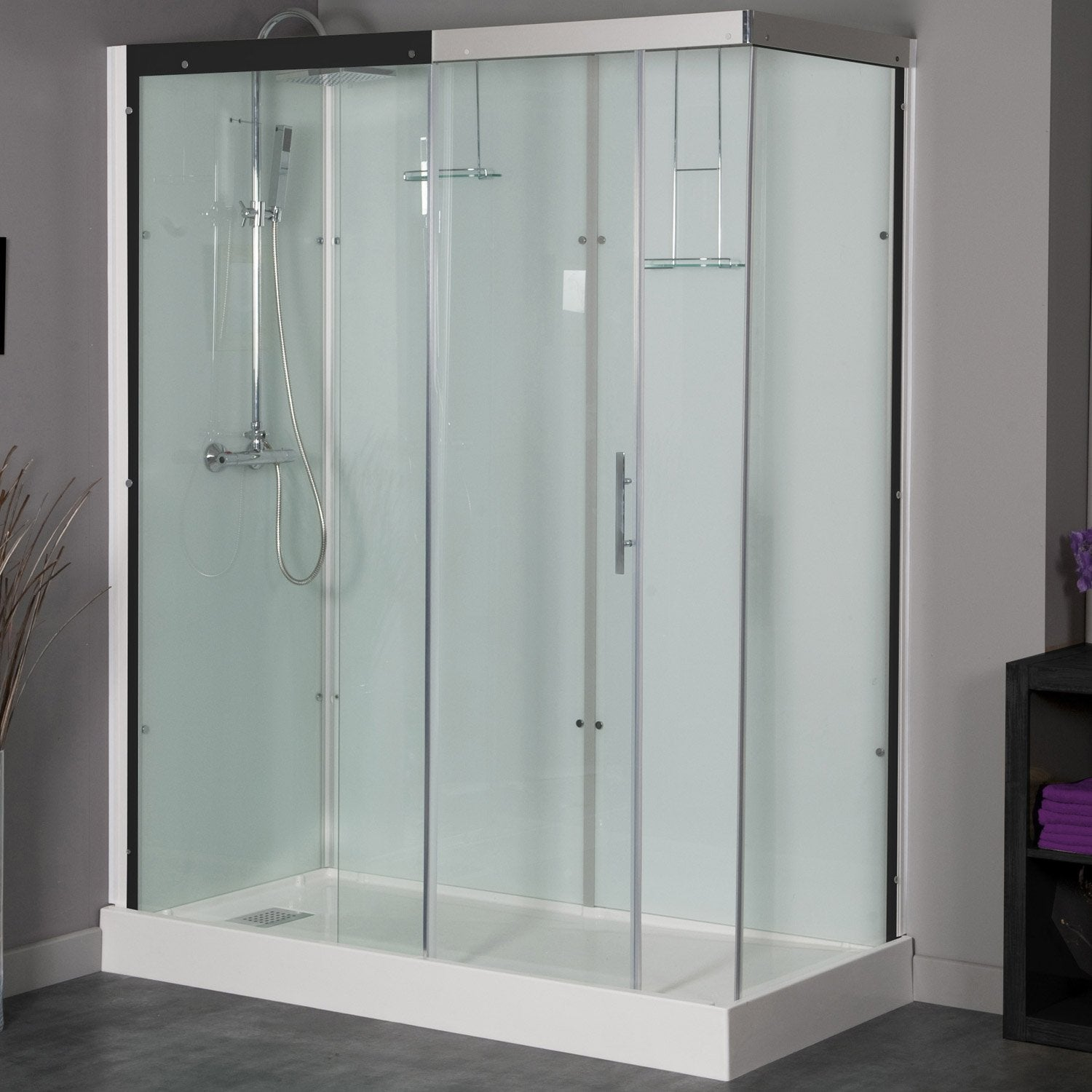 cool cabine de douche x cm thalaglass thermo with douche. Black Bedroom Furniture Sets. Home Design Ideas