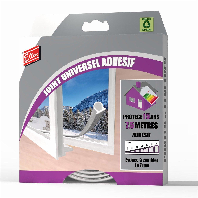 Joint de porte et fen tre universel ellen de 1 7 mm x 7 5 m blanc leroy merlin - Joint de frigo universel ...