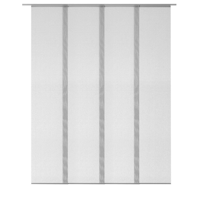 Kit complet panneaux japonais et rail gris 260 x 190 cm for Panneaux acrylique leroy merlin