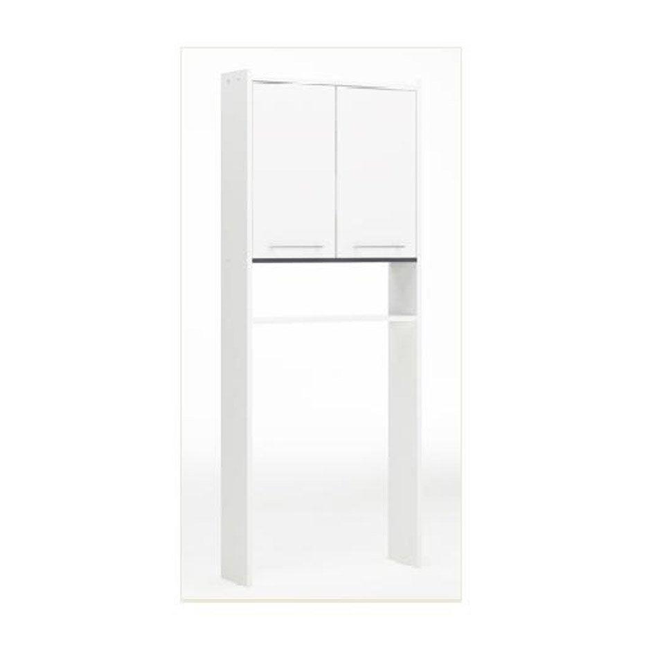 Meuble pour wc poser x x cm blanc nerea leroy merlin - Clim pret a poser leroy merlin ...