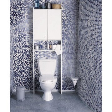 Meuble pour wc poser nerea blanc leroy merlin for Meuble wc leroy merlin