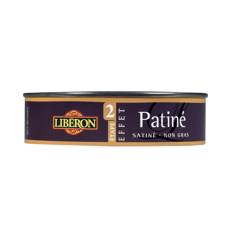 Cire effet patin liberon or riche l leroy merlin for Peinture effet patine