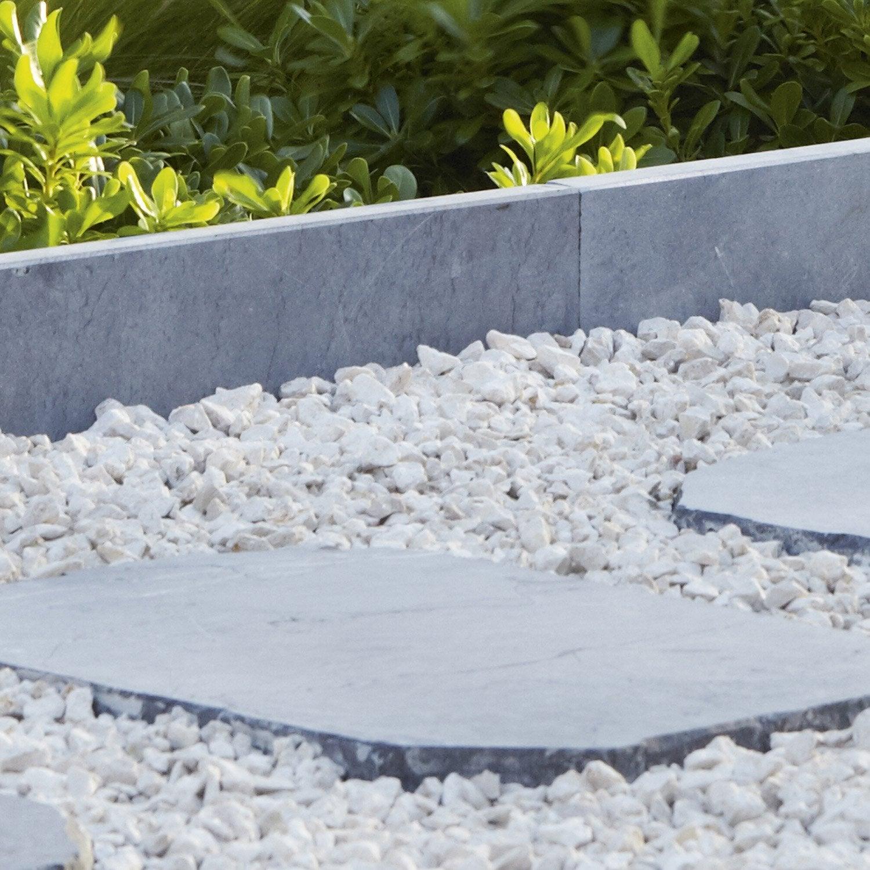 Bordure droite abysse pierre naturelle bleu x for Leroy merlin grillage jardin