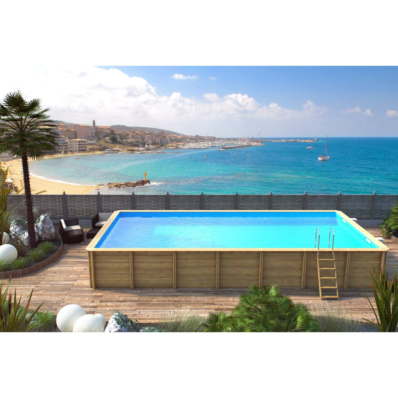piscine hors sol bois odyssea x l 5 5 x h m. Black Bedroom Furniture Sets. Home Design Ideas
