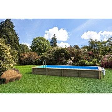 Cerland piscine bois odyssea cerland 1050x550x146 liner for Promo piscine bois octogonale