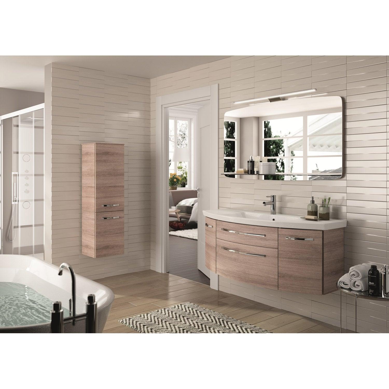 Meuble de salle de bains plus de 120 brun marron image for Salle de bain brun