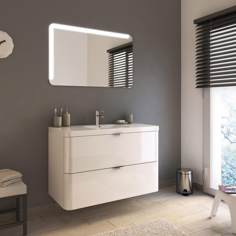 Meuble de salle de bains de 100 119 blanc beige - Meuble salle de bain beige ...
