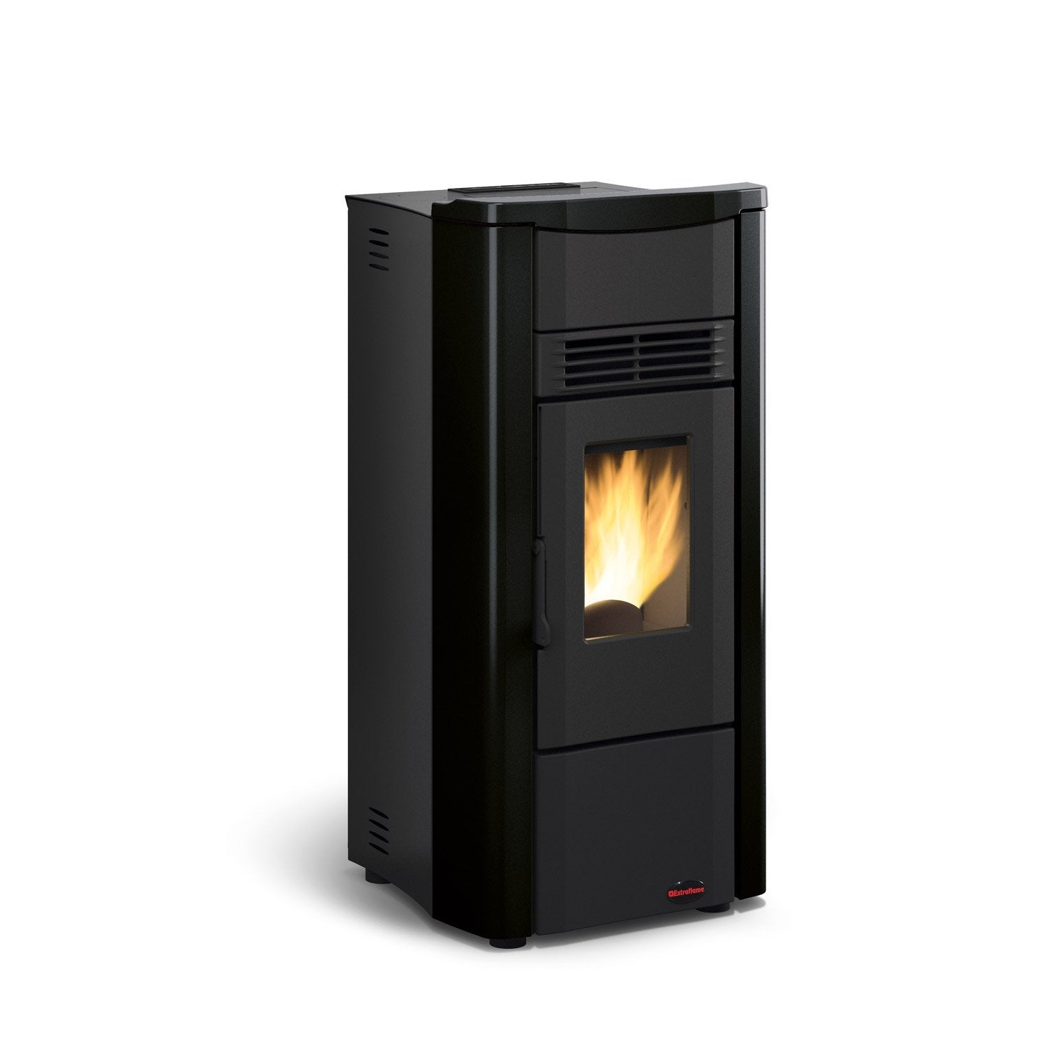 po le granul s extraflame giusy noir 7 kw leroy merlin. Black Bedroom Furniture Sets. Home Design Ideas