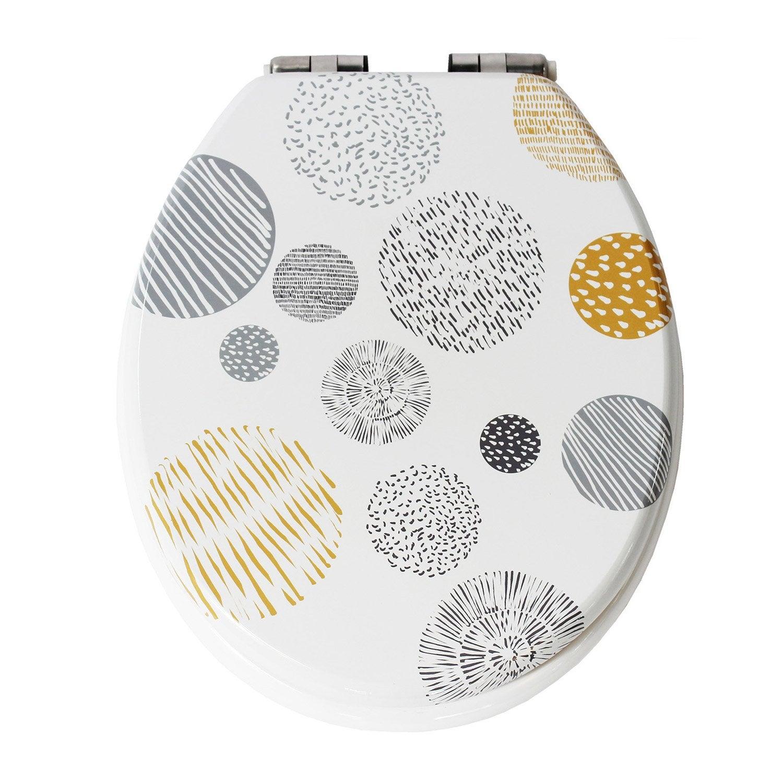 abattant frein de chute d clipsable multicolore bois compress suna leroy merlin. Black Bedroom Furniture Sets. Home Design Ideas
