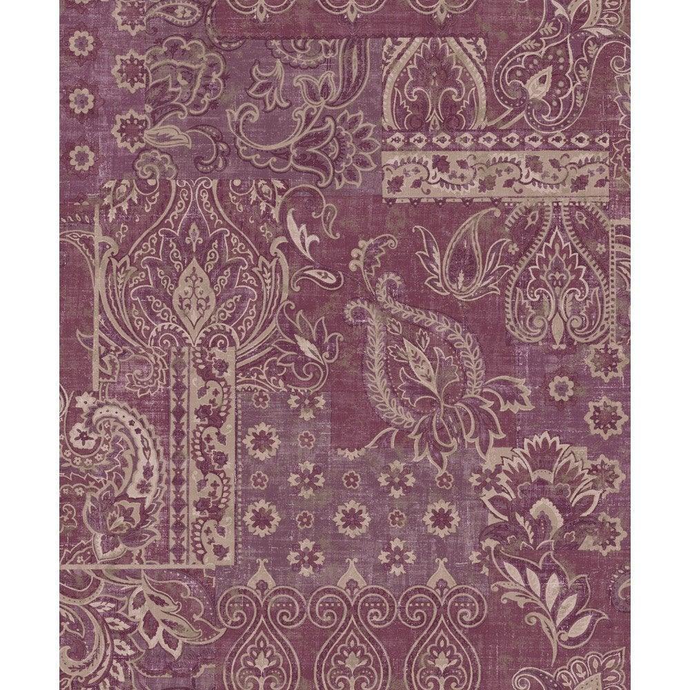 papier peint cashmir violine rose intiss jade leroy merlin. Black Bedroom Furniture Sets. Home Design Ideas