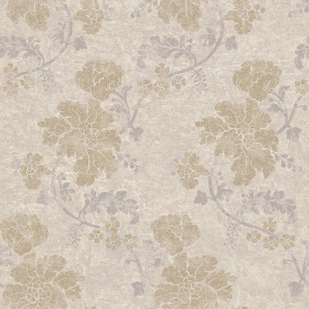 papier peint flower beige et dor intiss jade leroy merlin. Black Bedroom Furniture Sets. Home Design Ideas