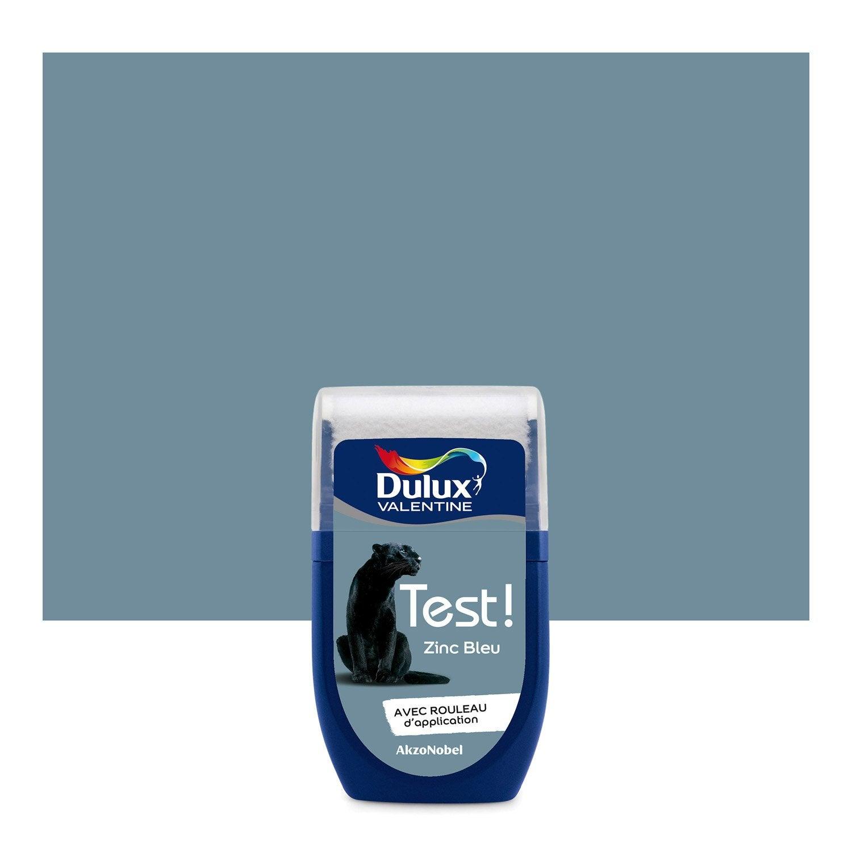 testeur peinture zinc bleu dulux valentine color resist l leroy merlin. Black Bedroom Furniture Sets. Home Design Ideas