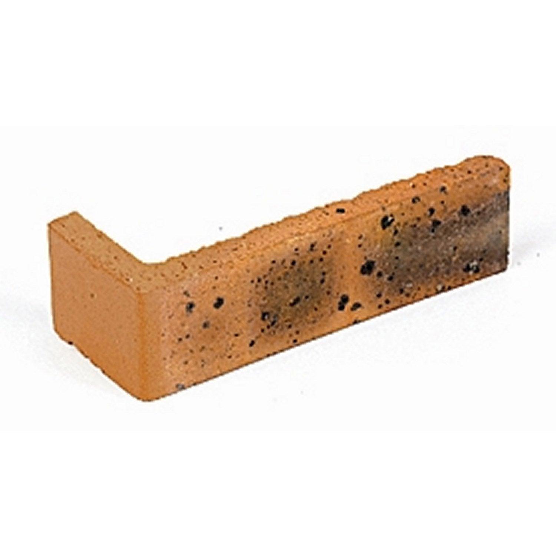 Angle pour plaquette de parement l opard terre cuite for Carrelage terre cuite leroy merlin