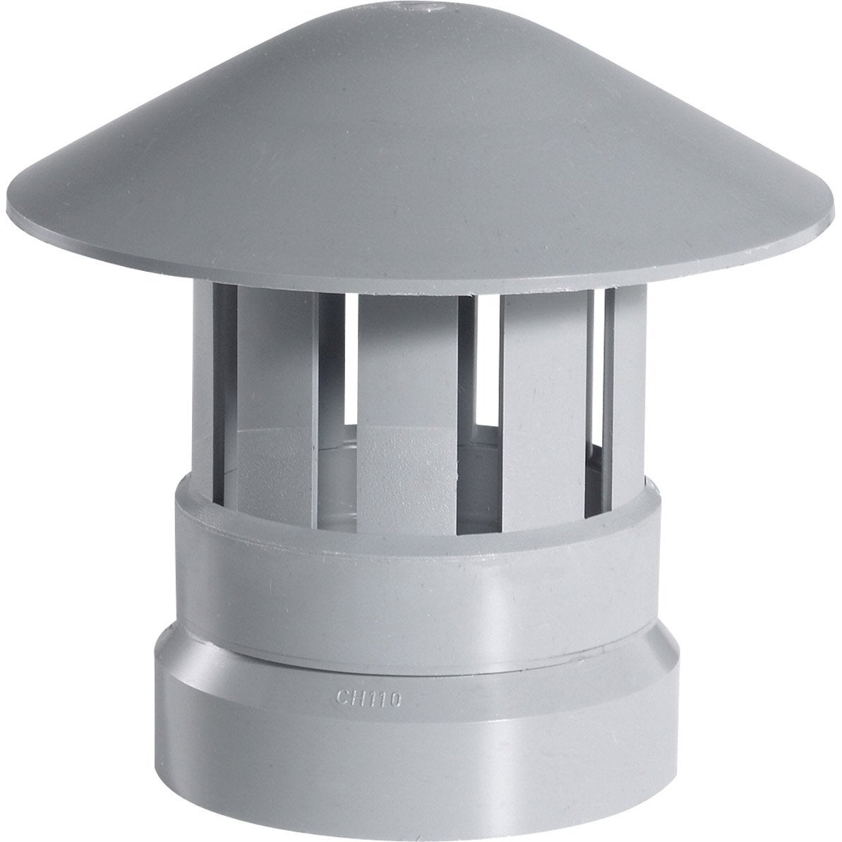 chapeau de ventilation pvc girpi gris diam 110 mm leroy merlin. Black Bedroom Furniture Sets. Home Design Ideas