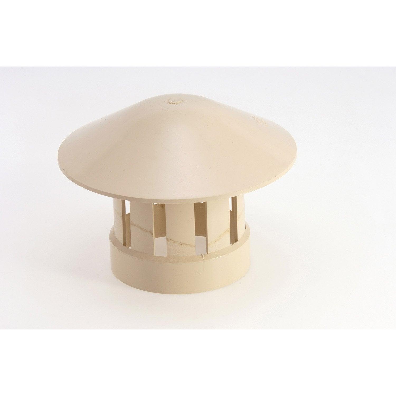Chapeau de ventilation femelle pvc sable girpi mm leroy merlin - Chapeau de ventilation leroy merlin ...