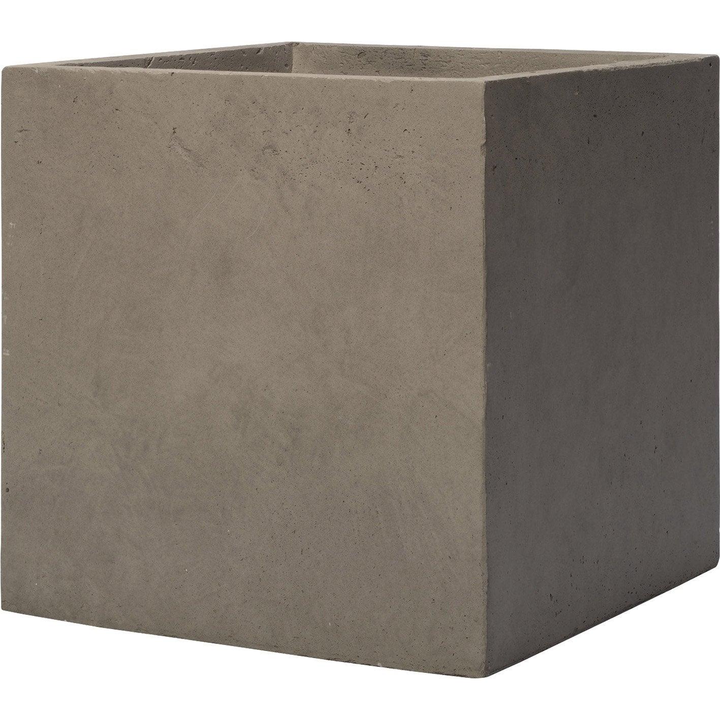 Cube fibre deroma x cm taupe leroy merlin for Cube leroy merlin