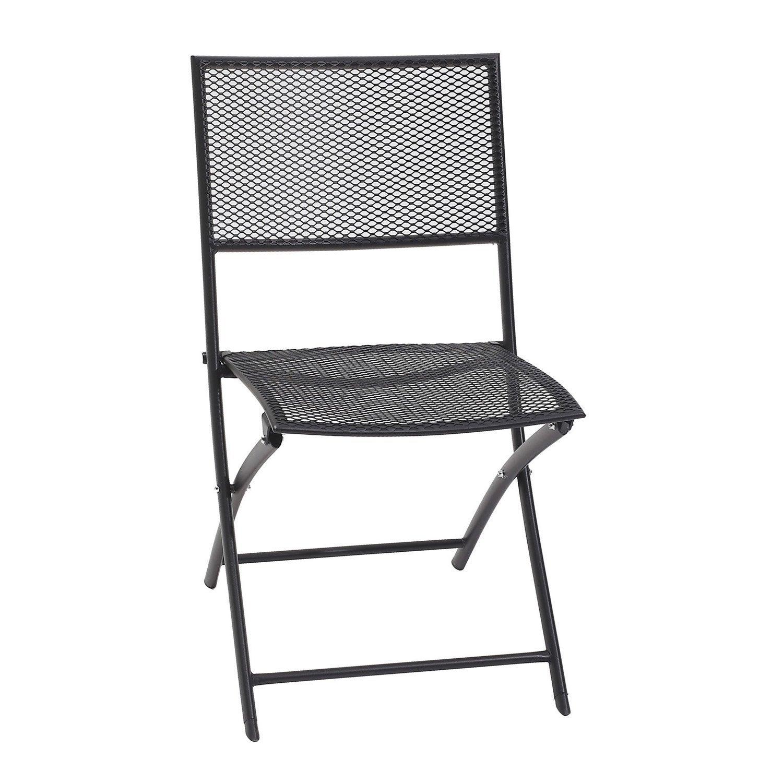 chaise de jardin en acier gris leroy merlin. Black Bedroom Furniture Sets. Home Design Ideas