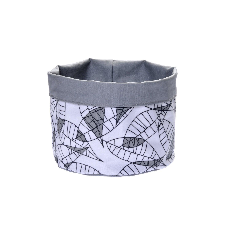 Panier en textile gris galet 3 feuille leroy merlin - Feuille stratifie leroy merlin ...