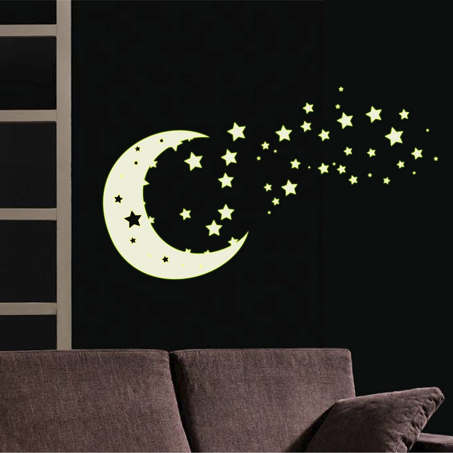 Sticker clair de lune 50 cm x 70 cm leroy merlin for Stickers pour porte de chambre