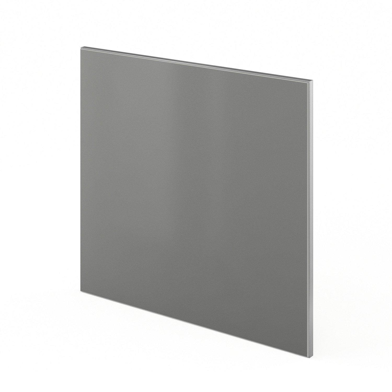 Porte pour lave vaisselle int grable de cuisine gris for Porte lave vaisselle ikea 60 cm