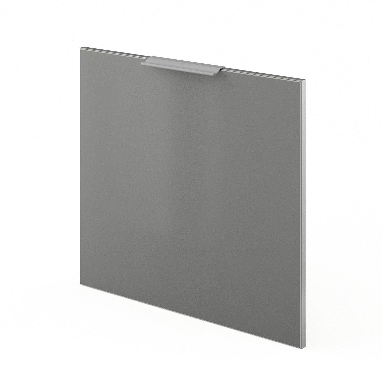Porte lave vaisselle de cuisine gris frost x cm for Porte 70 cm de large