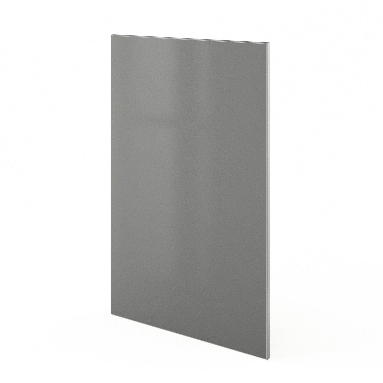 porte de cuisine gris frost x cm leroy merlin. Black Bedroom Furniture Sets. Home Design Ideas
